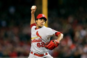 Carlos Martinez prepares to bring his 98 MPH Fastball to the rotation as the fifth starter in St. Louis, yes please