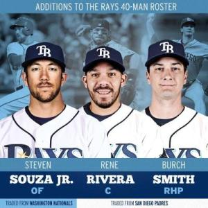 The Rays turned Wil Myers into a new RF in Souza, a new C in Rivera and pitching depth in Smith