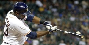 Chris Carter does not always make contact, but he has hit 66 HR in 1013 AB's the last two seasons.